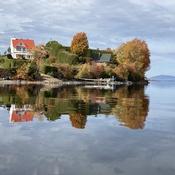 Image d'automne sur le Grand Lac St-François à lambton