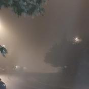 walking through a cloud