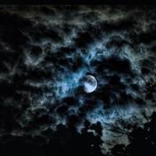 Moon In Rain Clouds