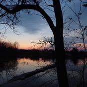 Thanksgiving sunset at the French River