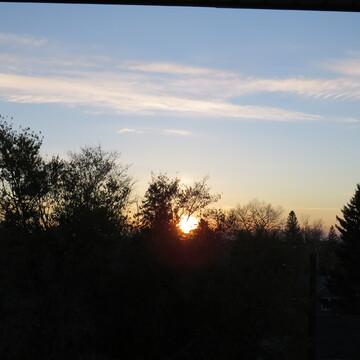 7:25 a.m. sunrise, at 0 degrees