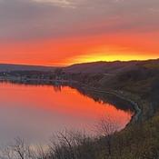 Sunset at Crooked lake park