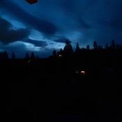 blue cloudy evening