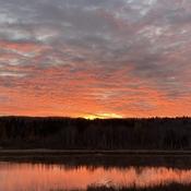 Sunrise on Tawatinaw Lake Alberta