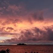 Sky on file over Lake Saint-François
