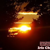 Oct 16 2021 6:12pm 13C Saturday Autumn sunset behind the cloudy sky in Thornhill