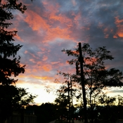 Oct 16 2021 6:30pm 13C Saturday Autumn sunset behind the cloudy sky in Thornhill