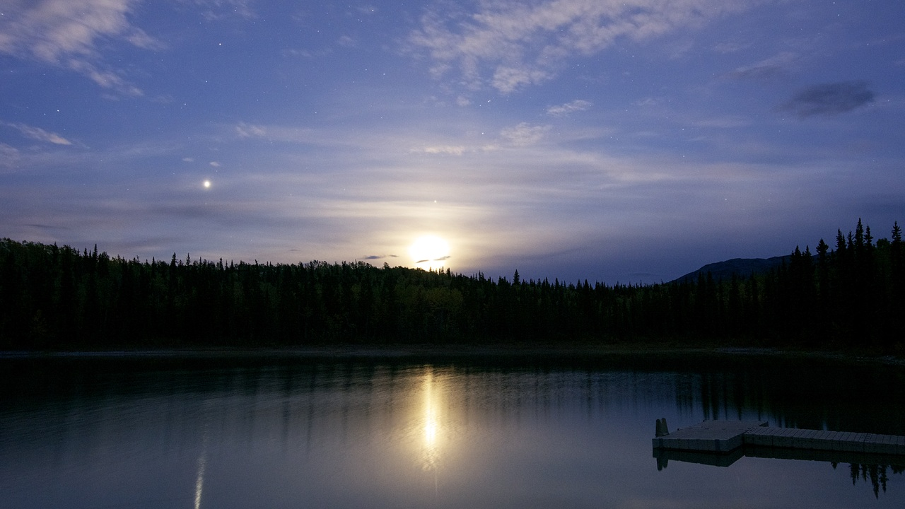 Boya Lake Moonrise