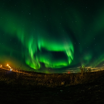 Northern Lights just north of the city.