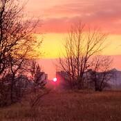 Saskatoon sunset with smoke