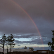 Two rainbows within 1 hour.