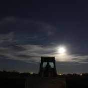 Moon light over the site