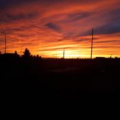Autumn Early Morning Sunset
