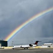 Beautiful rainbow over Pearson airport