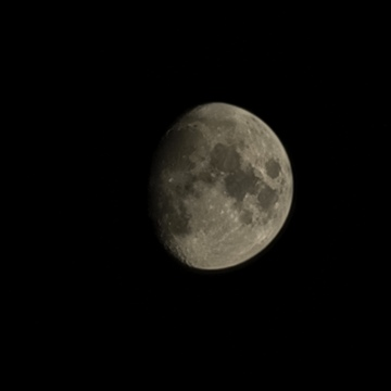 Moon During Cool Saturday Evening