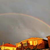 rainbow at 8:15 a.m. in Thornhill