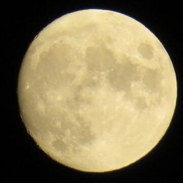 Waxing Gibbous Moon 96%.