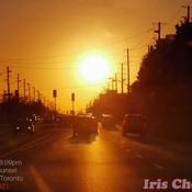 Oct 19 2021 21C 6:09pm Autumn Golden Sunset in Markham