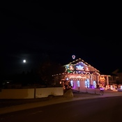 Marty's house with full moon