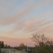 Sunset rib cage over Weyburn