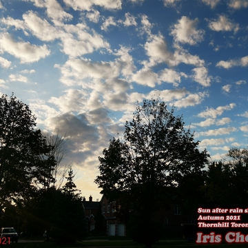 Oct 20 2021 5:33pm Amazing clouds formation just after rain shower in Thornhill