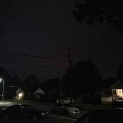 Red sky pitch black