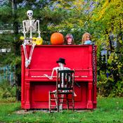 Practising for Halloween