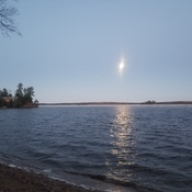 Moon set over Agamak Lake