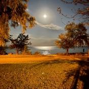 hunter moon over lake ontario