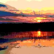 sunset tiny marsh