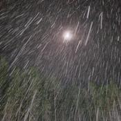Night time flurries near Ignace
