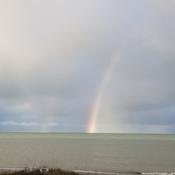 Rainbow this am...Amberley Beach