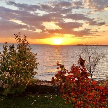 Sunrise in late October