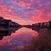 Sunrise on the canal in Airdrie