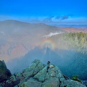 Summited a high peak in New Hampshire and found myself in a broken spectre