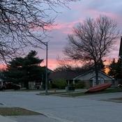 Early evening night sky