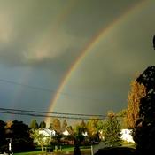 Double rainbow in Niagara on the Lake