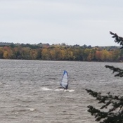 Windsurfer on a cold day in Ottawa