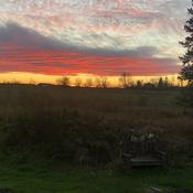 Sun set in Korah township