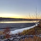 North Saskatchewan River sunset
