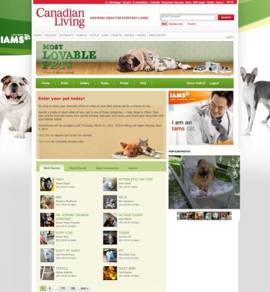 Canadian Living Launches IAMS Most Lovable Pet Contest