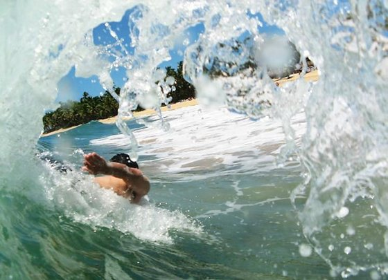 Body Surfing in Dominican Republic