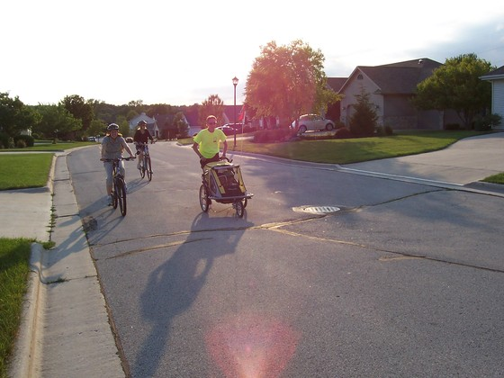 Running with 2 Grandchildren