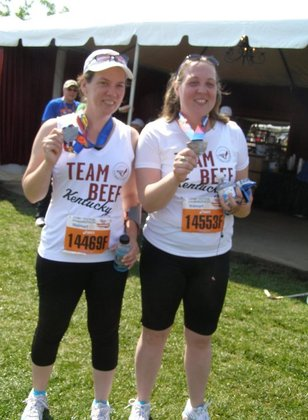 Sister and I in first mini marathon