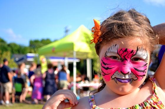 Girl Face Painted