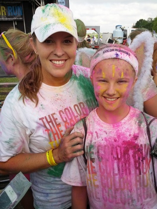 proud parent color run