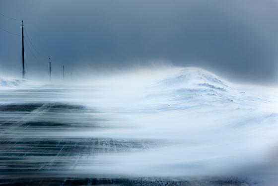 3b. Snow swept road