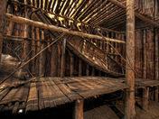 Canoe inside Iroquois Longhouse